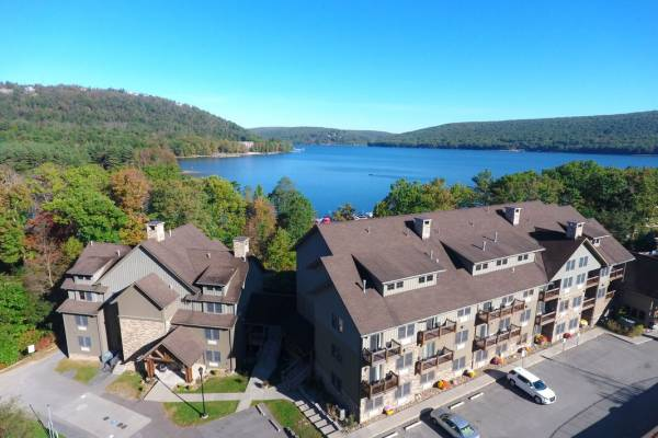 Drone View of Suites at Silver Tree