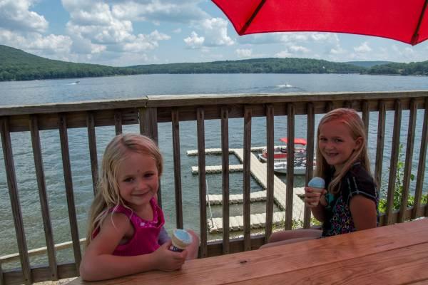 Girls with Ice Cream at Deep Creek Lake
