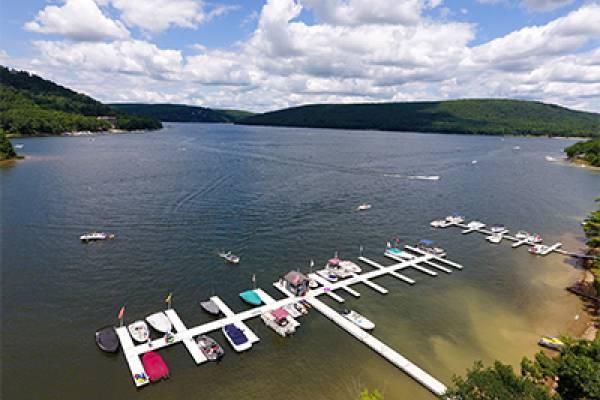 Docks of Silver Tree Marine - Drone View