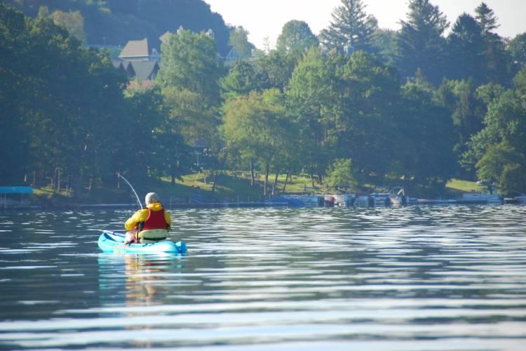 Summer Kayak Fishing at Deep Creek Lake