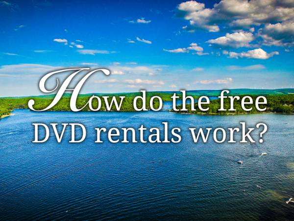 How do the free DVD rentals work?