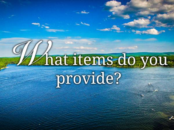What items do you provide?