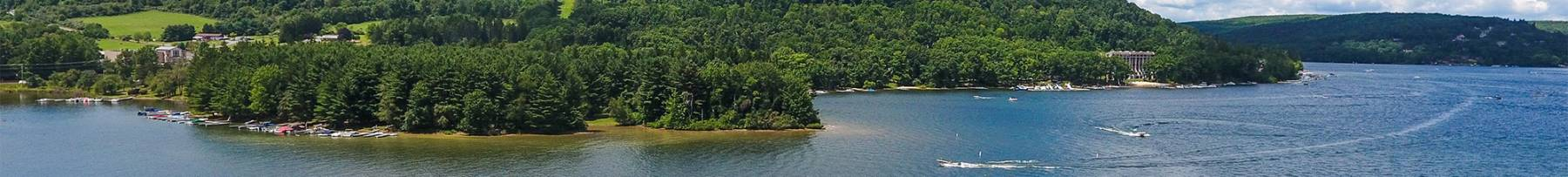 Drone Scenic Summer View of Deep Creek Lake