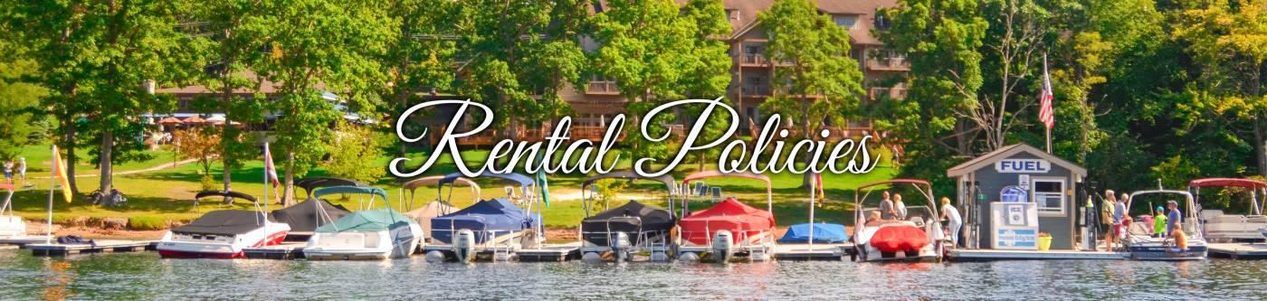 Rental Policies